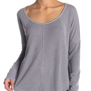 NWT Lucky Brand EXPOSED SEAM THERMAL PULLOVER